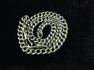 Silver pocket watch chain SORRY NOW SOLD
