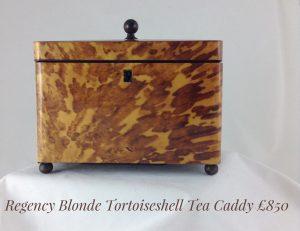 Tortoiseshell tea caddie 1780