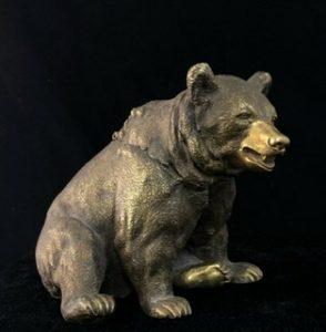 Russian bronze inkwell